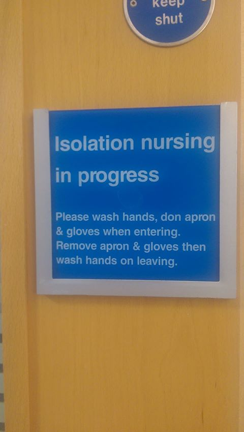 Isolation Nursing Sign