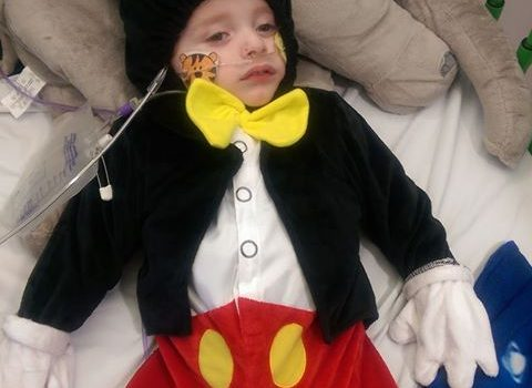 Jax in Mickey Mouse outfit